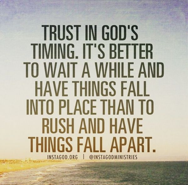 My Gut, The Holy Spirit, And Timing